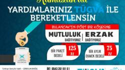 TÜGVA Bulancak'tan Ramazan Gıda Yardımı